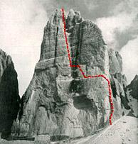 Cima Ovest Lavaredo (UIAA VIII- or VI-/A2)