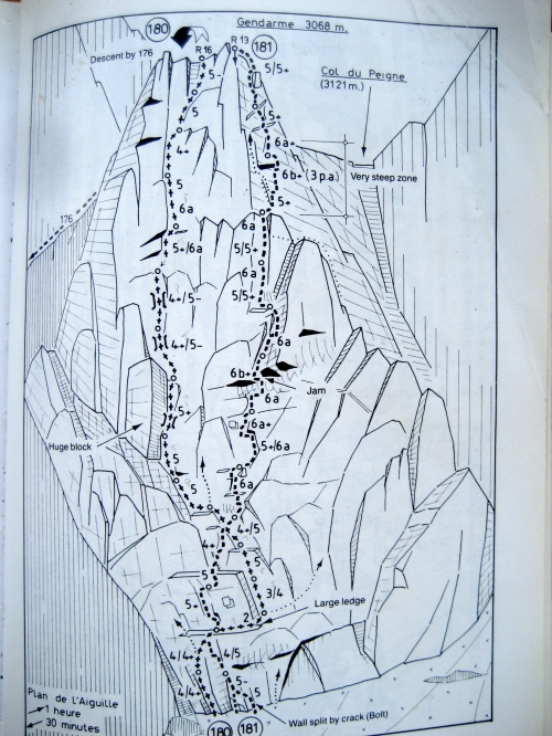 """181 - Le Maillon Manquant  ED-/400m/6a oblig - """"Magnificent crack climb, very susutained."""""""