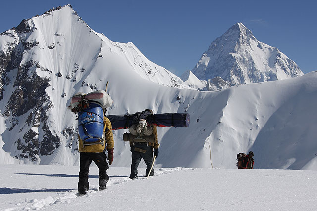 K2 Base Camp with K2 in the background