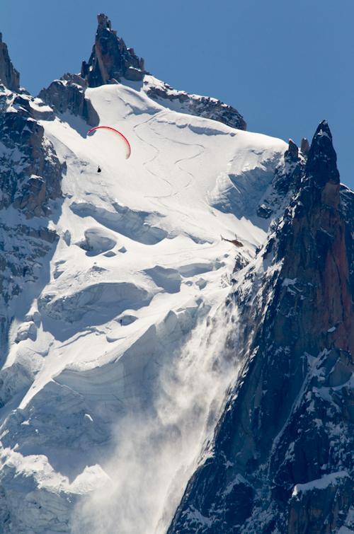 North Face, Aiguille du Plan, Xavier de Le Rue, Andreas Fransson