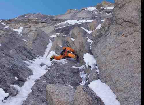 Matt Helliker, Cartwright Connection, Moonflower Buttress, Mount Hunter, Alaska