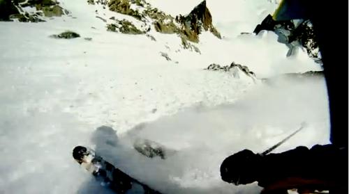 Chamonix extreme skiing, couloir du Diable